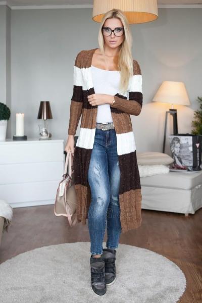 Ilgas šiltas megztinis Hyton (rudos spalvos) Paveikslėlis 1 iš 4 310820033760