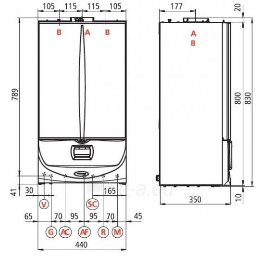 Immergas kondens.dujinis katilas Victrix Superior Top 32 X E Paveikslėlis 2 iš 2 271311000119