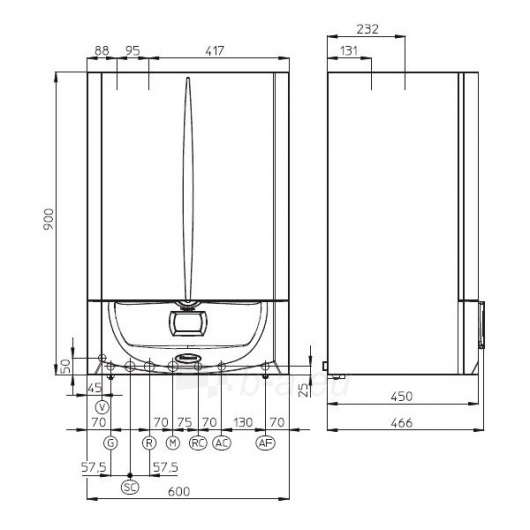 Immergas kondens.dujinis katilas Victrix Zeus Superior 26 kW I Paveikslėlis 2 iš 2 271311000123