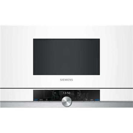 Įmontuojama mikrobangų krosnelė Siemens BF634LGW1 Built-in microwave/900W/7 Programs/Capacity 21L/TFT Display/TouchControl/CookControl/White Paveikslėlis 1 iš 1 250135000126