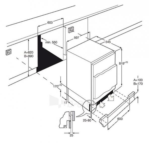 Šaldytuvas AEG SKS58200F0 Paveikslėlis 2 iš 2 250137000149