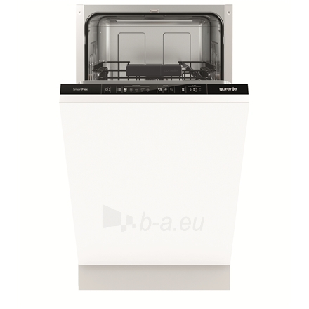 Indaplovė Gorenje Dishwasher GV54110 Built in, Width 45 cm, Number of place settings 9, Number of programs 5, A++, Display, AquaStop function, White Paveikslėlis 1 iš 2 310820131821