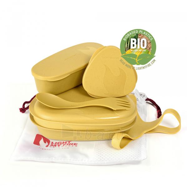 Indų rinkinys Lunch Kit Musty yellow Paveikslėlis 1 iš 2 310820250292