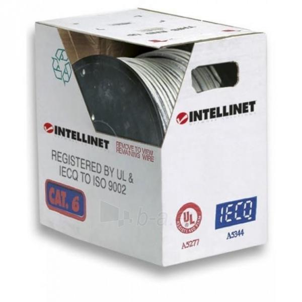 Intellinet Cat.6 UTP Bulk Cable, Solid, 23 AWG, 305m, CCA, Grey Paveikslėlis 2 iš 3 250257440069