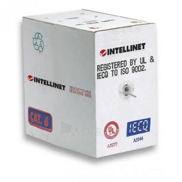 Intellinet Cat.6 UTP Bulk Cable, Solid, 23 AWG, 305m, CCA, Grey Paveikslėlis 3 iš 3 250257440069