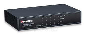 Intellinet komutatorius 5x10/100, metalas, desktop Paveikslėlis 1 iš 3 250257501188