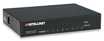 Intellinet komutatorius 8x10/100/1000 Gigabit, metalas Paveikslėlis 1 iš 2 250257501191