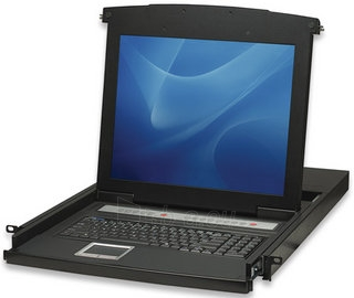 Intellinet KVM switch 8 port PS/2 USB LCD 17 1U console Paveikslėlis 1 iš 5 250257501465