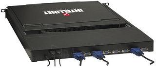 Intellinet KVM switch 8 port PS/2 USB LCD 17 1U console Paveikslėlis 3 iš 5 250257501465