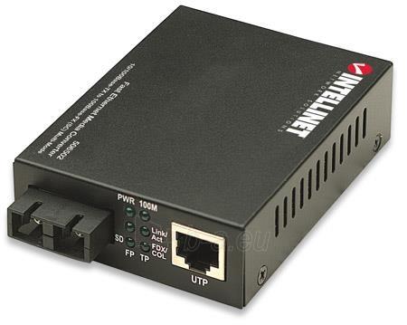 Intellinet Media Converter 10/100Base-TX RJ45 / 100Base-FX (MM SC) 2km 1310nm Paveikslėlis 1 iš 6 250255081564