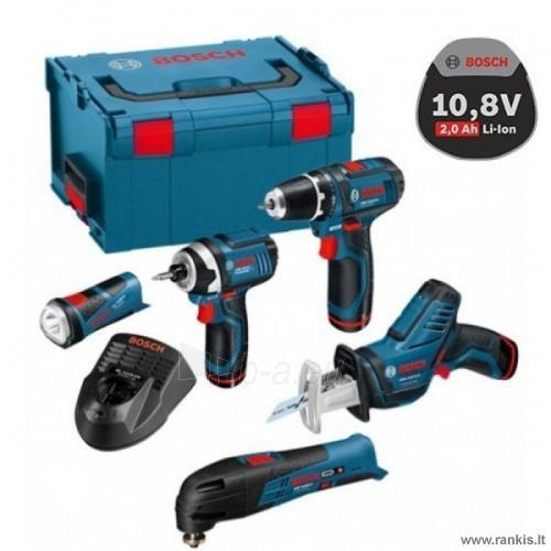 Bosch įrankių rinkinys 5in1 Bosch 10,8 В:GSR10,8-2-LI+GOP10 BOSCH 0615990GE8 Paveikslėlis 1 iš 1 310820049955
