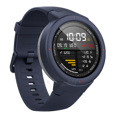 Išmanusis laikrodis Amazfit Smart Watch Verge Activity Tracker, Touchscreen, Bluetooth, Heart rate monitor, Blue, GPS (satellite), Blue, Paveikslėlis 1 iš 2 310820169063