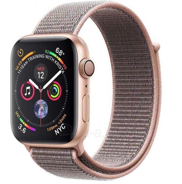 Išmanusis laikrodis Apple Watch Series 4 GPS, 40mm Gold Aluminium Case with Pink Sand Sport Loop Paveikslėlis 1 iš 2 310820171123