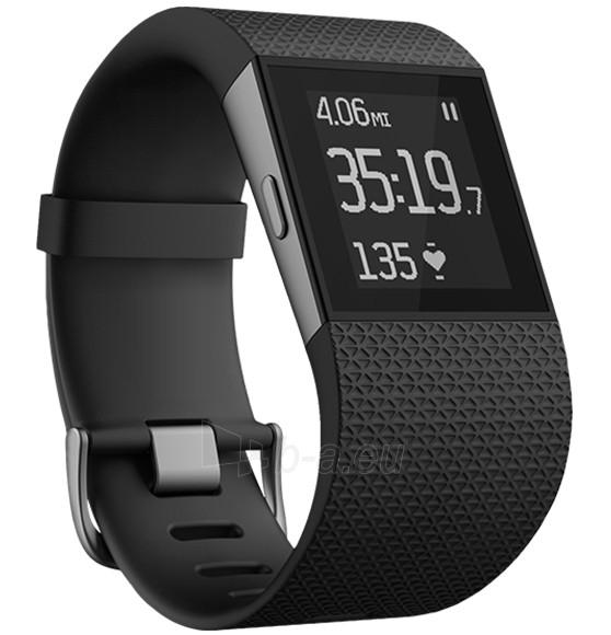 Išmanusis laikrodis Fitbit Surge, Large - Black Paveikslėlis 1 iš 1 310820086327