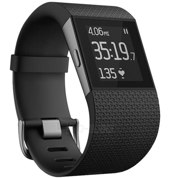 Išmanusis laikrodis Fitbit Surge, Small - Black Paveikslėlis 1 iš 1 310820086296