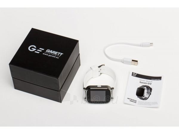Išmanusis laikrodis Garett G12, biały Paveikslėlis 4 iš 4 310820112784