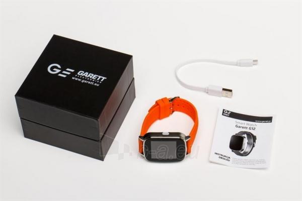 Išmanusis laikrodis Garett G12, pomarańczowy Paveikslėlis 4 iš 4 310820112772