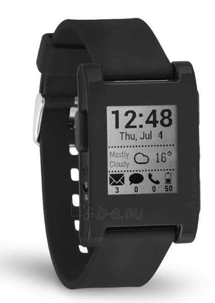 Išmanusis laikrodis PEBBLE Smartwatch 301BL (Black) Paveikslėlis 1 iš 3 310820014555