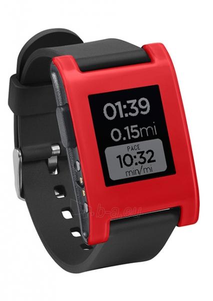 Išmanusis laikrodis PEBBLE Smartwatch 301RD (Red) Paveikslėlis 1 iš 3 310820014559