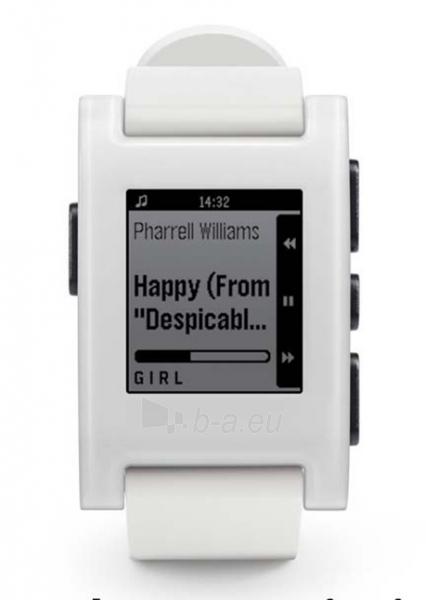 Išmanusis laikrodis PEBBLE Smartwatch 301WH (White) Paveikslėlis 1 iš 3 310820014567