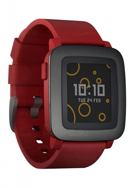 Išmanusis laikrodis PEBBLE Smartwatch Time 501-00022 (Red) Paveikslėlis 1 iš 3 310820014556