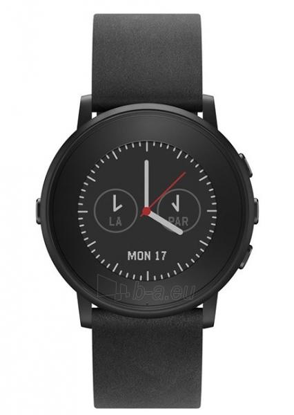 Išmanusis laikrodis PEBBLE Smartwatch Time Round S4.1 601-00049 (Black) Paveikslėlis 1 iš 3 310820014550