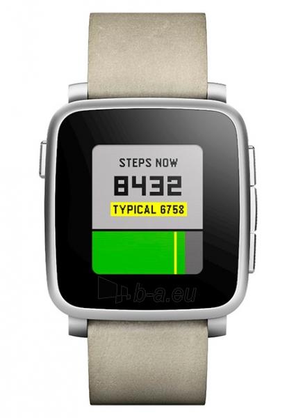 Išmanusis laikrodis PEBBLE Smartwatch Time Steel 511-00023 (Silver) Paveikslėlis 1 iš 3 310820014560