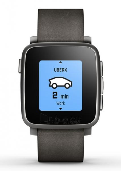 Išmanusis laikrodis PEBBLE Smartwatch Time Steel 511-00024 (Black) Paveikslėlis 1 iš 3 310820014563