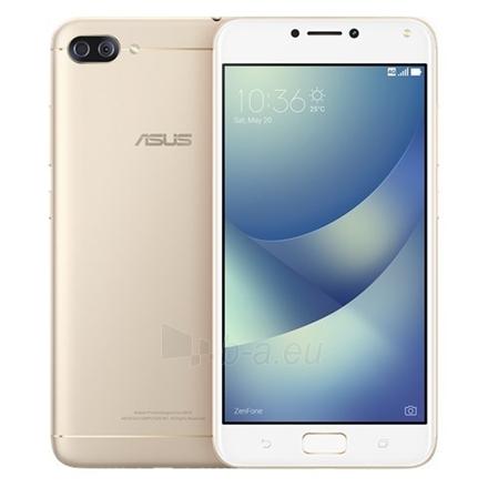 "Išmanusis telefonas Asus ZenFone 4 Max Pro ZC554KL Sunlight Gold, 5.5 "", IPS, 1280 x 720 pixels, Qualcomm Snapdragon 430, MSM8937, Internal RAM 3 GB, 32 GB, microSD, Dual SIM, Nano-SIM, 3G, 4G, Main camera 13 MP, Second camera 5 MP, Android, 7.0, 50 Paveikslėlis 1 iš 3 310820113677"