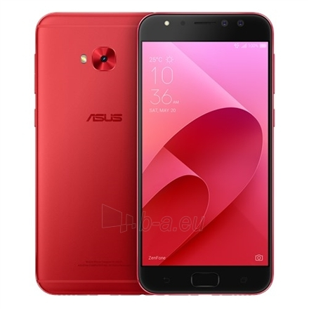 "Smart phone Asus ZenFone 4 Selfie Pro ZD552KL Red, 5.5 "", FHD AMOLED display, 1920 x 1080 pixels, Qualcomm, Snapdragon625 MSM8953, Internal RAM 4 GB, 64 GB, support MicroSD, up to 128G additional storage, Dual SIM, Nano SIM, 3G, 4G, Main cam Paveikslėlis 1 iš 5 310820102739"