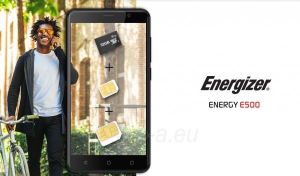 Išmanusis telefonas Energizer Energy E500 Dual black Paveikslėlis 10 iš 10 310820161829