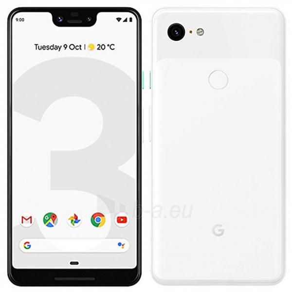Išmanusis telefonas Google Pixel 3 XL 64GB clearly white Paveikslėlis 3 iš 3 310820175197