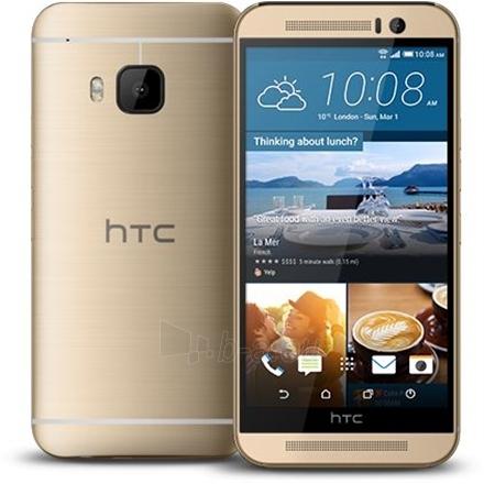 "Išmanusis telefonas HTC One M9 Gold, 5.0 "", Super LCD3, 1080 x 1920 pixels, Qualcomm Snapdragon, 810, Internal RAM 3 GB, 32 GB, microSD up to 256 GB, Single SIM, Nano-SIM, 3G, 4G, Main camera 20 MP, Second camera 4 MP, Android, 5.0, 2840 mAh, Warran Paveikslėlis 1 iš 1 310820107354"