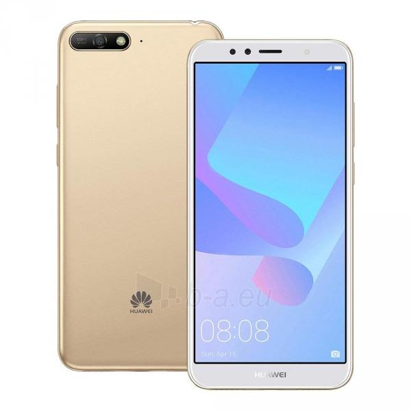 Išmanusis telefonas Huawei Y6 (2018) Dual 16GB gold (ATU-L21) Paveikslėlis 5 iš 6 310820155339