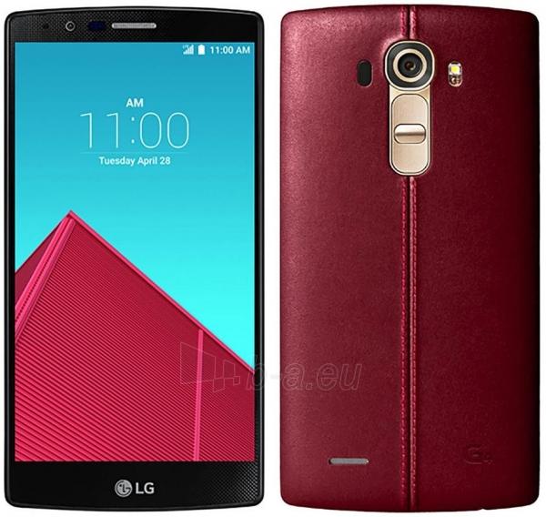 Smart phone LG H818p G4 32GB Dual leather red USED Paveikslėlis 2 iš 4 310820230167