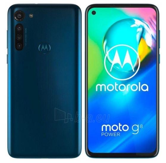 Mobilais telefons Motorola XT2041-3 Moto G8 Power Dual 64GB capri blue Paveikslėlis 1 iš 6 310820215795