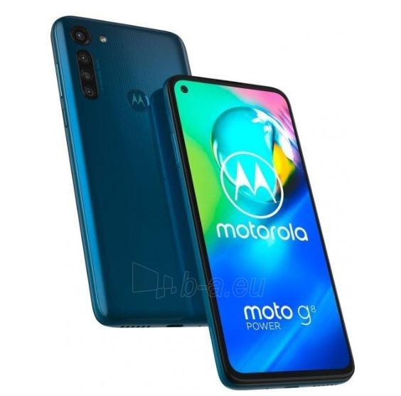 Mobilais telefons Motorola XT2041-3 Moto G8 Power Dual 64GB capri blue Paveikslėlis 2 iš 6 310820215795