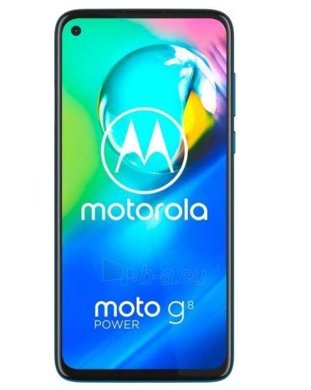 Mobilais telefons Motorola XT2041-3 Moto G8 Power Dual 64GB capri blue Paveikslėlis 3 iš 6 310820215795