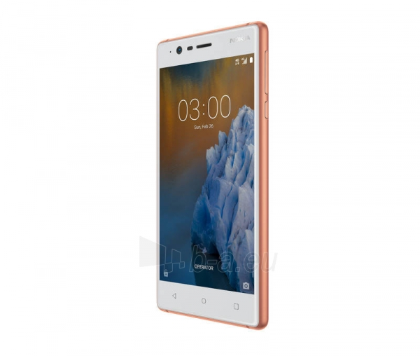 Išmanusis telefonas Nokia 3 Dual copper white 16GB Paveikslėlis 2 iš 5 310820167726