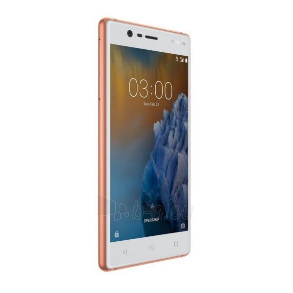 Išmanusis telefonas Nokia 3 Dual copper white 16GB Paveikslėlis 3 iš 5 310820167726