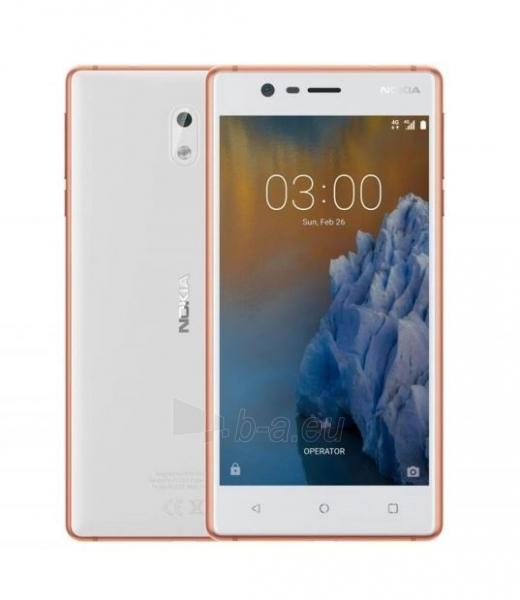 Išmanusis telefonas Nokia 3 Dual copper white 16GB Paveikslėlis 4 iš 5 310820167726