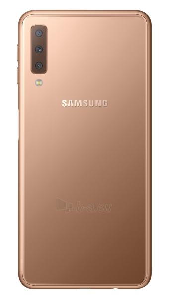 Išmanusis telefonas Samsung A750FN/DS Galaxy A7 (2018) Dual 64GB gold Paveikslėlis 2 iš 6 310820161878