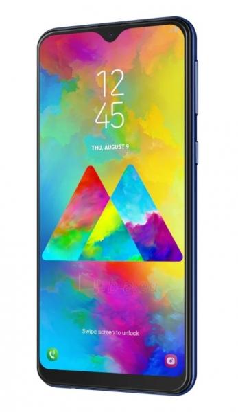 Išmanusis telefonas Samsung M205FN/DS Galaxy M20 Dual 64GB ocean blue Paveikslėlis 3 iš 3 310820175205