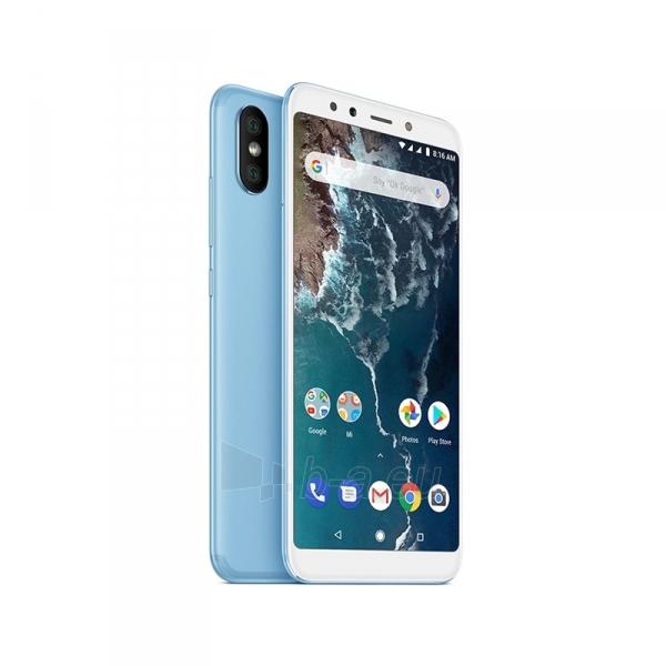 Išmanusis telefonas Xiaomi Mi A2 Dual 4+64GB blue Paveikslėlis 1 iš 3 310820160357