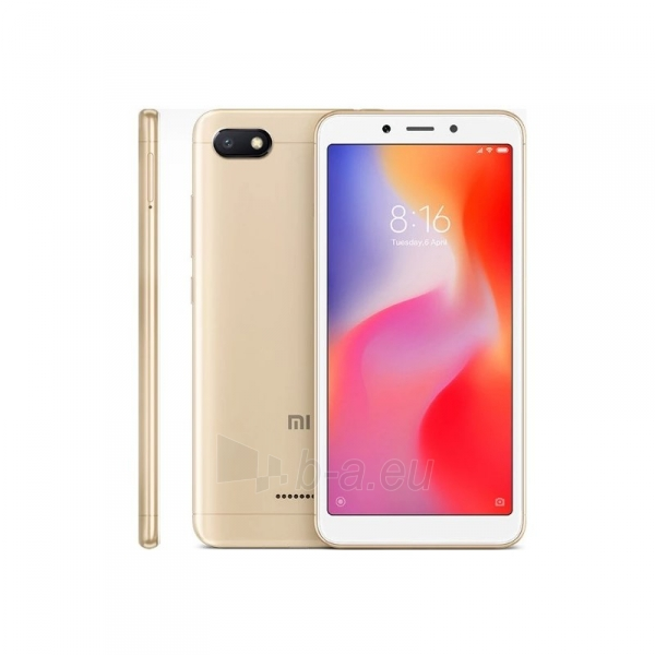 Išmanusis telefonas Xiaomi Redmi 6A Dual 2+32GB gold Paveikslėlis 3 iš 3 310820155387