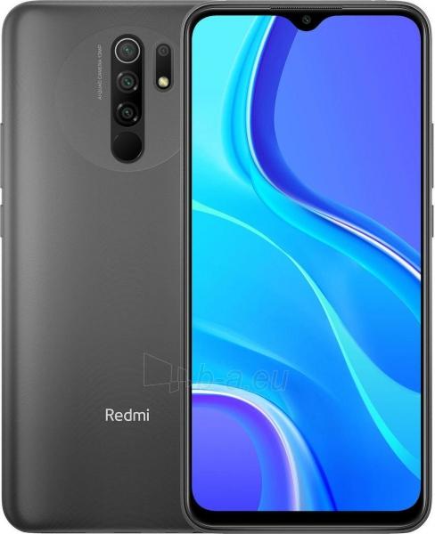 Mobilais telefons Xiaomi Redmi 9 Dual 4+64GB carbon grey Paveikslėlis 1 iš 9 310820225384