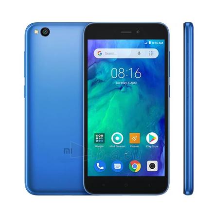 "Smart phone Xiaomi Redmi Go Blue, 5.0 "", IPS LCD, 720 x 1280 pixels, Qualcomm, Snapdragon 425, Internal RAM 1 GB, 8 GB, microSD, Dual SIM, Nano-SIM, 3G, 4G, Main camera 8 MP, Secondary camera 5 MP, Android, 8.1, 3000 mAh Paveikslėlis 1 iš 1 310820172270"