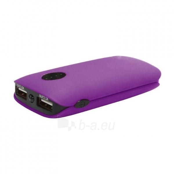 Telefono dėklas Platinet 5000mAh Power bank lādētājs + LED lukturis violet Paveikslėlis 1 iš 1 310820014158
