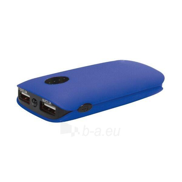 Telefono dėklas Platinet 5000mAh Power bank lādētājs + LED lukturis zils - blue Paveikslėlis 1 iš 1 310820014159