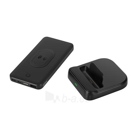 Išorinė baterija Acme Wireless Power bank PB301 10 000 mAh, Black, 2 USB ports, USB-C PD, Li-Ion Paveikslėlis 7 iš 9 310820222262
